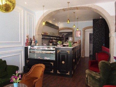 Inside Tease Bakery, Lisbon Portugal
