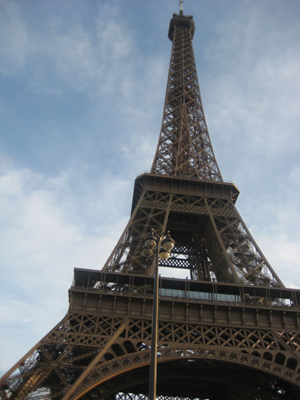 Visit to the Eiffel Tower during a layover in Paris