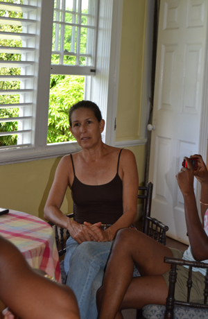 Jamaican artist Laura Facey, creator of Redemption Song monument