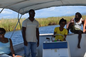 Life in Jamaica: Driving the boat during the Black River Safari St. Elizabeth, Jamaica