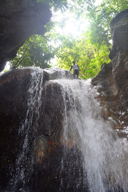 Tour guide at Somerset Falls Portland Jamaica