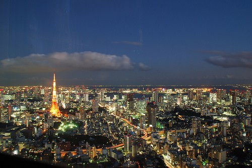 First trip to Japan: Tokyo Tower from Mori Tower Observatory