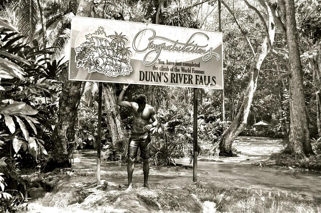 Sam climbs Dunn's River Falls
