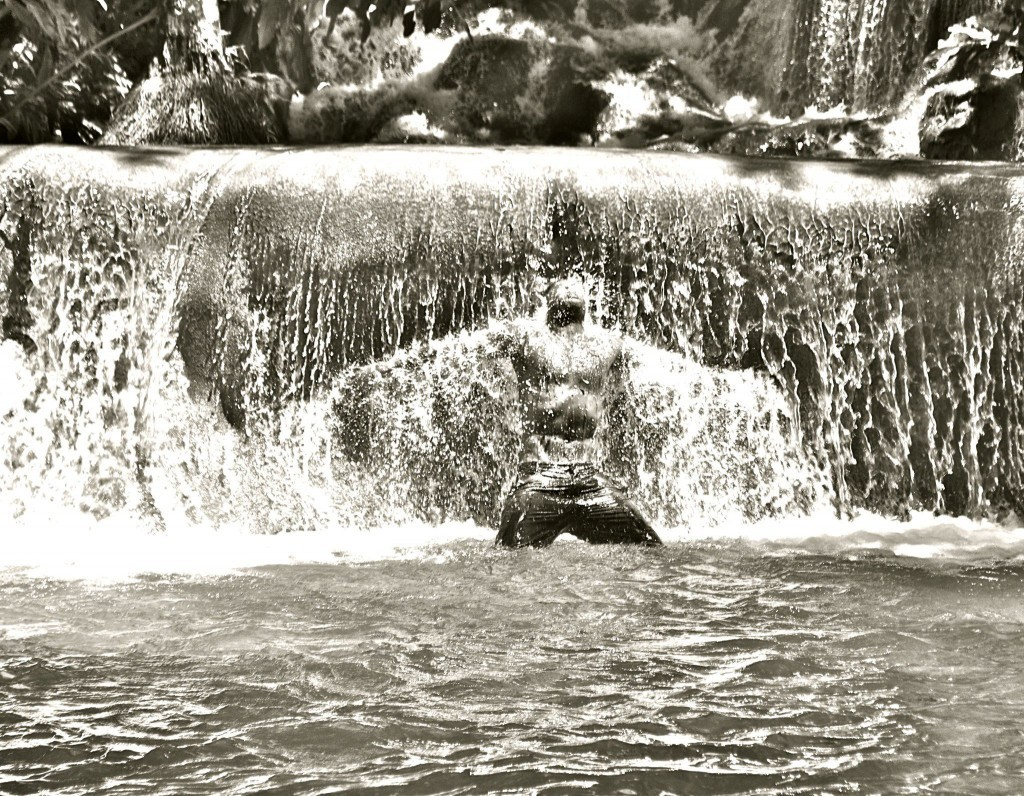 Sam at Dunn's River Falls