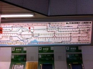 First trip to Japan: Tokyo Japan Trains Map