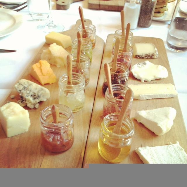 Cheese trays from 676 Restaurant at the Omni Chicago Hotel