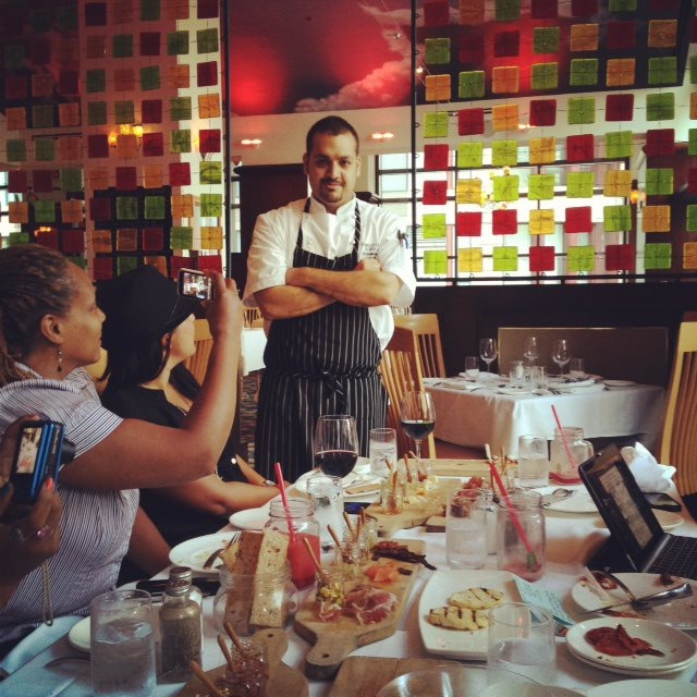 Dinesh, the sous chef at 676 Restaurant & Bar, Omni Chicago