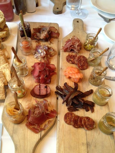 Meats from the Charcuterie Cooler at 676 Restaurant at Omni Chicago Hotel