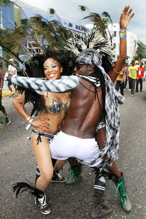 Jamaica Bacchanal 2013 Road March Jamaica Bacchanal 2013 Road March black and white