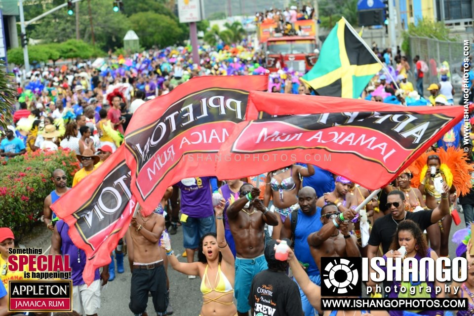 Jamaica Bacchanal 2013 Road March crowd