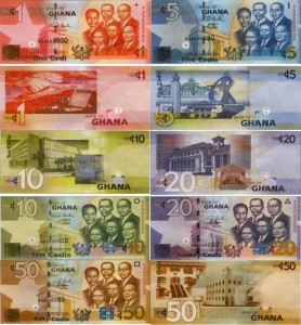 life in accra cedi money banknotes
